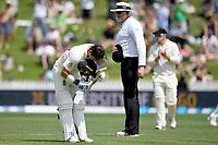 1st December 2019, Hamilton, New Zealand;  Rory Burns as he scores 100.<br /> International test match cricket, New Zealand versus England at Seddon Park, Hamilton, New Zealand. Sunday 1 December 2019.