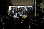 Israel, Bnei Brak, Rabbi Vossner celebrates Hanukkah with his followers, lighting the candles