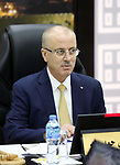 Palestinian Prime Minister Rami Hamdallah chairs a meeting with council of Ministers in the West Bank city of Ramallah on August 7, 2018. Photo by Prime Minister Office