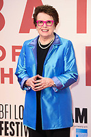 Billie Jean King at the London Film Festival 2017 screening of &quot;Battle of the Sexes&quot; at the Odeon Leicester Square, London, UK. <br /> 07 October  2017<br /> Picture: Steve Vas/Featureflash/SilverHub 0208 004 5359 sales@silverhubmedia.com