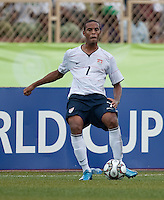 Stefan Jerome controls the ball. US Under-17 Men's National Team defeated United Arab Emirates 1-0 at Gateway International  Stadium in Ijebu-Ode, Nigeria on November 1, 2009.