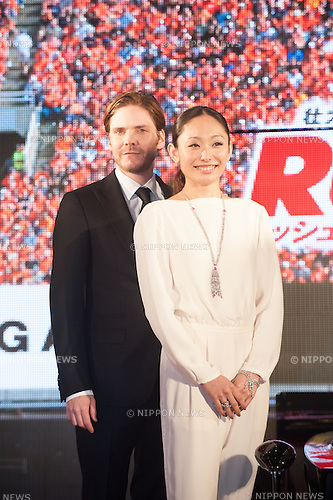 January 30, 2014 : Tokyo, Japan - Daniel Bruhl and Miki Ando appear at the Japan Premiere for RUSH by Ron Howard in the Yurakucho Marion, Tokyo, Japan. (Photo by Yumeto Yamazaki/NipponNews)