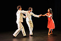London, UK. 18.06.2015. English National Ballet presents CHOREOGRAPHICS, an evening of new work from emerging and developing choreographers, in the Lilian Baylis studio at Sadler's Wells. This piece is MEMORY OF WHAT COULD HAVE BEEN, choreographed by Renato Paroni de Castro. The dancers are: Sarah Kundi, Vitor Menezes, Guilherme Menezes. Photograph © Jane Hobson.