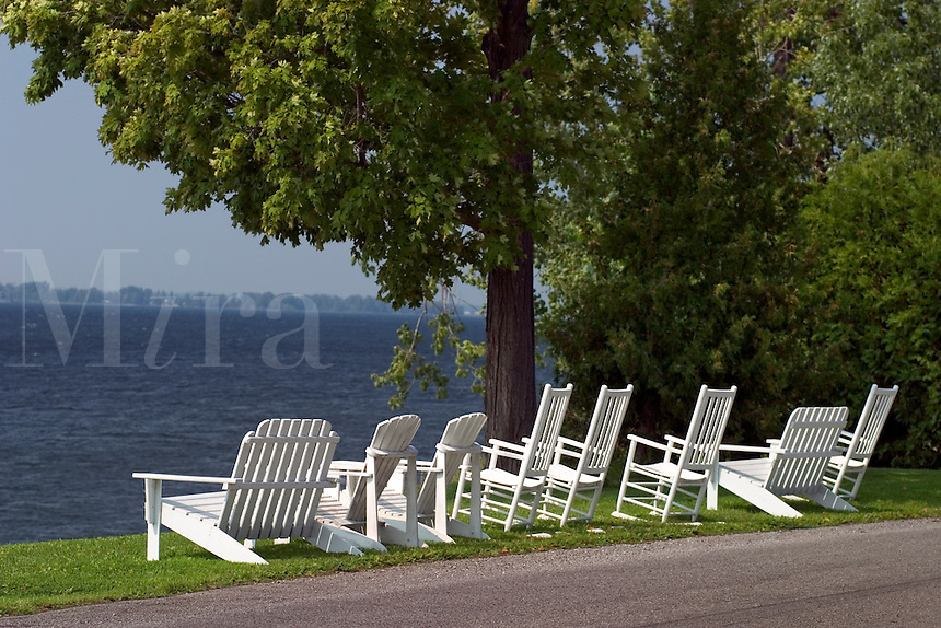 Adirondack Chairs in Isle LaMotte, VT.  Lake Champlain Islands