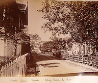 BNPS.co.uk (01202 558833)<br /> Pic: 25BlytheRoad/BNPS<br /> <br /> 'Oriental Avenue down to the Chao Phraya river'<br /> <br /> Stunning 125 year-old pictures of Thailand which showcase the tropical paradise long before it became a tourist hot-spot have emerged.<br /> <br /> The collection of photographs from the early 1890s include images of the King's birthday celebrations in 1892, the King's palace and the Bangkok architecture.<br /> <br /> Also included in the collection are photographs of Hong Kong under British crown rule in 1895 including of British seamen, the Hong Kong cricket team and the native army.<br /> <br /> The photo album will go under the hammer on January 25 and is tipped to sell for &pound;1,500.<br /> <br /> The owner of the album is believed to have been a member of the Royal Engineers or connected with them.<br /> <br /> The fascinating photos provide a snapshot of Thailand under the rule of King Chulalongkorn.<br /> <br /> He was the first Siamese king to have a full western education, having been taught by British governess Anna Leonowens whose memoirs were transported to the silver screen in the famous film The King and I.
