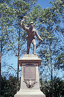 Statue of Costa Rican hero of Juan Santamaria in the town of Alajuela, Costa Rica