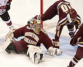 Corinne Boyles (BC - 29), Blake Bolden (BC - 10) - The Northeastern University Huskies defeated Boston College Eagles 4-3 to repeat as Beanpot champions on Tuesday, February 12, 2013, at Matthews Arena in Boston, Massachusetts.
