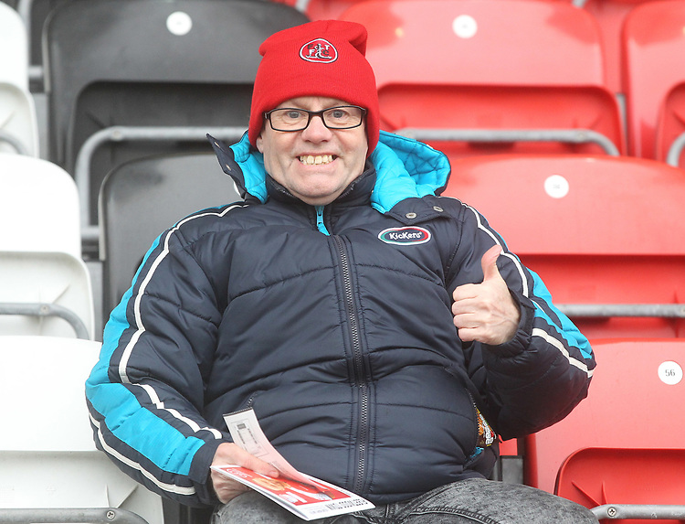 Fleetwood Town's Fans<br /> <br /> Photographer Mick Walker/CameraSport<br /> <br /> The EFL Sky Bet League One - Fleetwood Town v Scunthorpe United - Saturday 26th January 2019 - Highbury Stadium - Fleetwood<br /> <br /> World Copyright © 2019 CameraSport. All rights reserved. 43 Linden Ave. Countesthorpe. Leicester. England. LE8 5PG - Tel: +44 (0) 116 277 4147 - admin@camerasport.com - www.camerasport.com