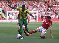 Nottingham Forest's Joe Lolley battles with  West Bromwich Albion's Matt Phillips<br /> <br /> Photographer Mick Walker/CameraSport<br /> <br /> The EFL Sky Bet Championship - Nottingham Forest v West Bromwich Albion - Tuesday August 7th 2018 - The City Ground - Nottingham<br /> <br /> World Copyright &copy; 2018 CameraSport. All rights reserved. 43 Linden Ave. Countesthorpe. Leicester. England. LE8 5PG - Tel: +44 (0) 116 277 4147 - admin@camerasport.com - www.camerasport.com