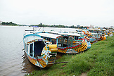 VIETNAM, Hue, boats on the Perfume river, La Y Village, Phu Vang District, Thua Thien Hue Province