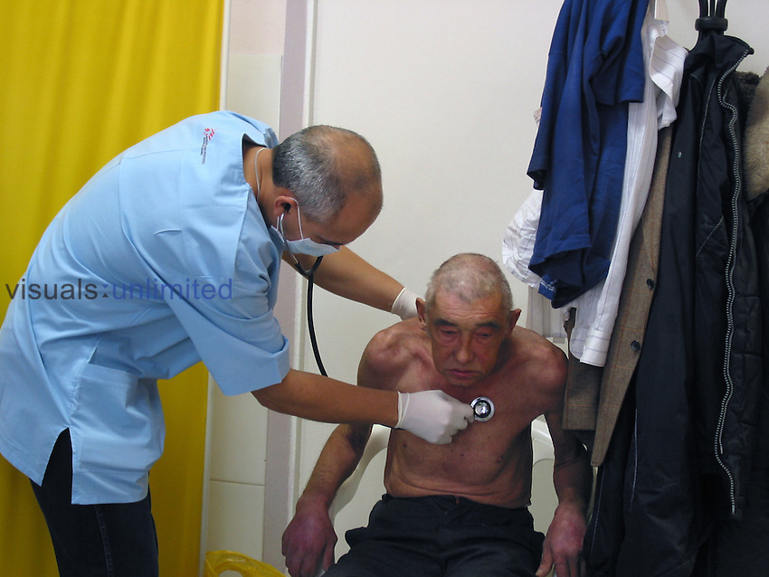 Doctors Without Borders, a patient receives care at a clinic in Moscow, Russia
