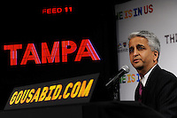 U.S. Soccer President and USA Bid Committee Chairman Sunil Gulati announces Tampa as one of the 18 cities to be submitted to FIFA as part of the bid to host the 2018 or 2022 FIFA World Cup at the ESPN Zone in Times Square, NYC, NY, on January 12, 2010.
