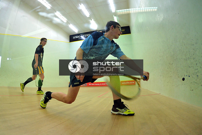 Day 2 30th NZSS National Squash Champs, Nelson, New Zealand. Saturday 9 August 2014.Photo: Barry Whitnall/shuttersport.co.nz