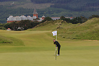 Marta Lopez Echevarria (ESP) on the 1st green during Round 1 of the Women's Amateur Championship at Royal County Down Golf Club in Newcastle Co. Down on Tuesday 11th June 2019.<br /> Picture:  Thos Caffrey / www.golffile.ie<br /> <br /> All photos usage must carry mandatory copyright credit (© Golffile | Thos Caffrey)