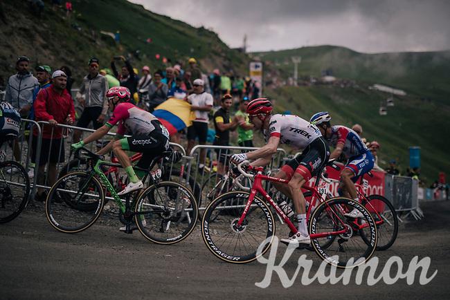 Bauke Mollema  (NED/Trek-Segafredo) up the brutal Col du Portet (HC/2250m/16km at 8.7%/Souvenir Henri Desgrange) in this historically short stage (only 65km)<br /> <br /> Stage 17: Bagnères-de-Luchon > Saint-Lary-Soulan (65km)<br /> <br /> 105th Tour de France 2018<br /> ©kramon