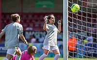 The Second goal is scored during the 'Greatest Show on Turf' Celebrity Event - Once in a Blue Moon Events at the London Borough of Barking and Dagenham Stadium, London, England on 8 May 2016. Photo by Andy Rowland.