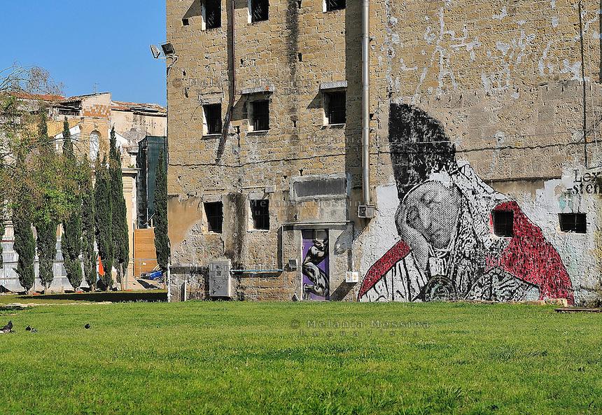 Palermo, murales a Piazza Magione