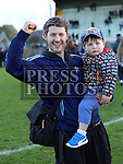 Danny and Daniel Black celebrate Colmcilles win.  Colmcilles V Dunderry,  Meath Intermediate Final Replay at P&aacute;irc Tailteann, Navan.<br /> <br /> <br /> Photo - Jenny Matthews