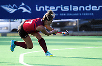 Action from the Wellington Hockey women's open grade premier one match between Dalefield (black and gold) and Hutt United at National Hockey Stadium in Wellington, New Zealand on Saturday, 26 May 2018. Photo: Dave Lintott / lintottphoto.co.nz