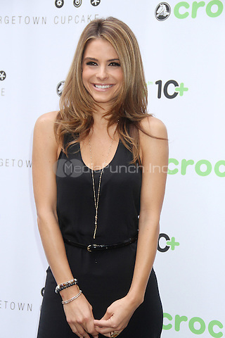 NEW YORK, NY - JULY 31: Maria Menounos celebrates Crocs Tenth Anniversary by ringing the NASDAQ bell at 4 Times Square on July 31, 2012 in New York City. Credit: RW/MediaPunch Inc.