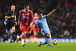 Pierre Hojbjerg of Munich battles Sergio Aguero of Manchester City - Manchester City vs. Bayern Munich - UEFA Champion's League - Etihad Stadium - Manchester - 25/11/2014 Pic Philip Oldham/Sportimage