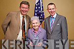 LIFETIME AWARD: Margaret Dwyer, was honoured with a 'Lifetime Achievement Award' from Business Munster Magazine at Fels Point Hotel on Friday by celebrity lawyer, Gerald Kean and Michael Mulcahy, Proprietor of Business Munster Magazine.   Copyright Kerry's Eye 2008