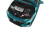 Car stock 2017 Toyota PRIUS PRIME Four 5 Door Hatchback engine high angle detail view