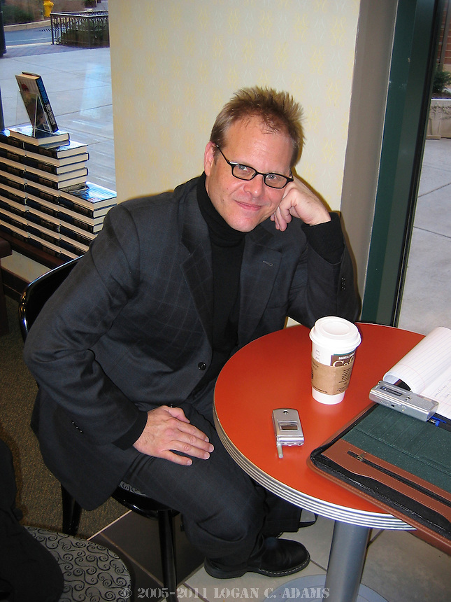 Alton Brown, Food Network chef,  during an interview at a Barnes & Noble in Arlington, Va.