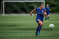 Seattle, WA - Thursday, May 26, 2016: Seattle Reign FC defender Paige Nielsen (12). The Seattle Reign FC of the National Women's Soccer League (NWSL) and the Arsenal Ladies FC of the Women's Super League (FA WSL) played to a 1-1 tie during an international friendly at Memorial Stadium.