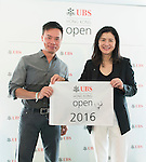 The lucky draw winner and UBS Hong Kong Country Head Amy Lo at the end of the Am-Am tournament of the 58th UBS Hong Kong Golf Open as part of the European Tour on 13 December 2016, at the Hong Kong Golf Club, Fanling, Hong Kong, China. Photo by Marcio Rodrigo Machado / Power Sport Images