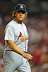 28 August 2010: St. Louis Cardinals Manager Tony La Russa walks back to the dugout during a game against the Washington Nationals at Nationals Park in Washington, DC. The Nationals defeated the Cards 14-5 to take the third game of their 4-game series. Mandatory Credit: Ed Wolfstein Photo
