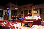 Stage and Set Design during the Off-Broadway Opening Night Performance Curtain Call for 'Falling' at Minetta Lane Theatre on October 15, 2012 in New York City.