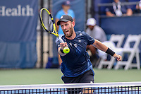 Washington, DC - August 3, 2019:  Raven Klaasen (RSA)hits the ball at the net during the  Men Doubles semi finals at William H.G. FitzGerald Tennis Center in Washington, DC  August 3, 2019.  (Photo by Elliott Brown/Media Images International)