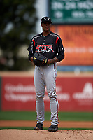 Lake Elsinore Storm starting pitcher Reggie Lawson (9) prepares to deliver a pitch during a California League game against the Rancho Cucamonga Quakes at LoanMart Field on May 20, 2018 in Rancho Cucamonga, California. Rancho Cucamonga defeated Lake Elsinore 6-2. (Zachary Lucy/Four Seam Images)
