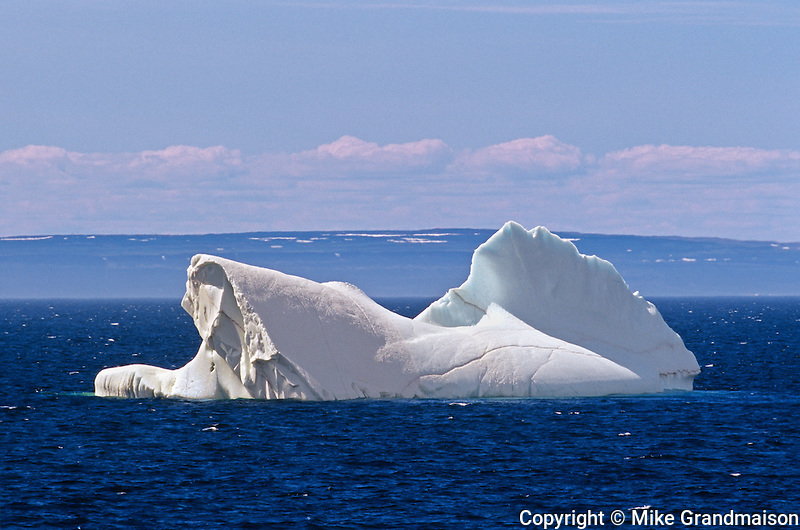 Iceberg in Atlantic Ocean<br /> near Griquet<br /> Newfoundland<br /> Canada