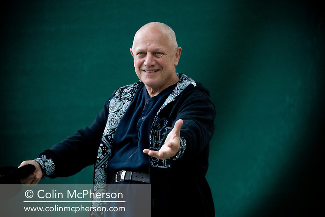 Veteran British actor and performer Steven Berkoff pictured at the Edinburgh International Book Festival where he talked about his  career in the arts. The three-week event is the world's biggest literary festival and is held during the annual Edinburgh Festival. 2008 was the Book Festival's 25th anniversary and featured talks and presentations by more than 500 authors from around the world.