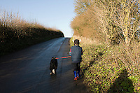Walk in Corton Denham,  Somerset, England with Lucas, Felix, Annuska, Mum (Sarah) and Dad (John) Wiseman.