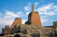 Spanien, Andalusien, Denkmal San Cristobal in Almeria