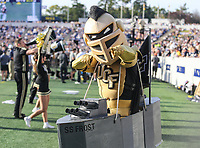 Annapolis, MD - October 21, 2017: UCF Knights mascot during the game between UCF and Navy at  Navy-Marine Corps Memorial Stadium in Annapolis, MD.   (Photo by Elliott Brown/Media Images International)