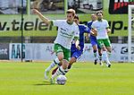 2018-08-12 / voetbal / seizoen 2018 - 2019 / Crocky Cup / Dessel Sport - Diegem / Thomas Jutten (l) (Dessel) controleert de bal met achter hem Ayoub Ibn Hach (Diegem)