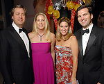 "Andrew and Shanna Linbeck with Greggory and Patrick Burke at  the ""Wrecking Ball"" at the Houston Museum of Natural Science Saturday  March 07, 2009. (Dave Rossman/For the Chronicle)"