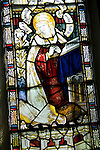 Stained glass Virgin Mary by Charles Eamer Kempe, Church of St Botolph, Burgh, Suffolk