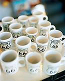 USA, Arizona, mugs with route 66 symbol on it, Winslow