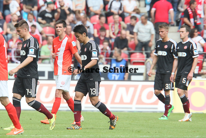 Frust bei den Nürnberger Spielern - 1. FSV Mainz 05 vs. 1. FC Nürnberg, Coface Arena,