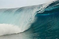 Teahupoo, Tahiti Iti, French Polynesia. Thursday August 17 2011. Adrian Buchan (AUS).  A south  west swell was hitting the main reef today with clean open barrels in the six foot range. Photo: joliphotos.com