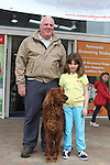 "Sean Ward and Abigail Ward Fallon with Swiper enjoying ""National Dog Walking Day"" at Petmania...(Photo credit should read Jenny Matthews www.newsfile.ie)....This Picture has been sent you under the conditions enclosed by:.Newsfile Ltd..The Studio,.Millmount Abbey,.Drogheda,.Co Meath..Ireland..Tel: +353(0)41-9871240.Fax: +353(0)41-9871260.GSM: +353(0)86-2500958.email: pictures@newsfile.ie.www.newsfile.ie."