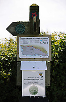 Thursday 15 June 2017<br />Pictured: Information posted near one of the gates of Castlemartin range.<br />Re: A soldier has been killed and three others injured after an incident involving a tank at a Ministry of Defence base in Pembrokeshire.<br />The soldier, from the Royal Tank Regiment, died in the incident at Castlemartin Range.<br />Two people were taken to Morriston Hospital in Swansea, while another casualty remains in Cardiff's University Hospital of Wales.<br />An investigation is under way.<br />Live firing was scheduled to take place at the range between Monday and Friday.<br />In May 2012, Ranger Michael Maguire died during a live firing exercise at the training base. An inquest later found he was unlawfully killed.