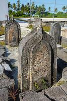 Maldives, Fenfushi Island, Muslim graves,