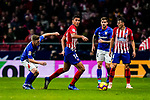 Rodrigo Cascante of Atletico de Madrid (C) is followed by Iker Muniain Goni of Athletic de Bilbao (L) during the La Liga 2018-19 match between Atletico de Madrid and Athletic de Bilbao at Wanda Metropolitano, on November 10 2018 in Madrid, Spain. Photo by Diego Gouto / Power Sport Images