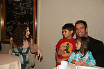 Alicia Minshew chats with Cameron Mathison - son Lucas - daughter Leila attend All My Children Fan Luncheon on September 13, 2009 at the New York Helmsley Hotel, NYC, NY. (Photo by Sue Coflin/Max Photos)
